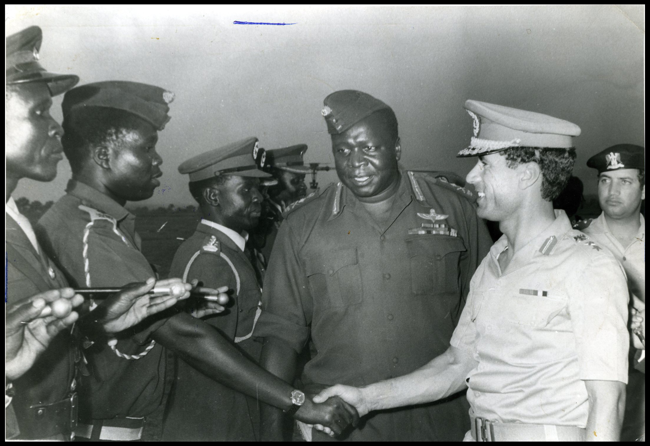 Gaddafi &amp; Amin in Gulu 1973 bordered.jpg